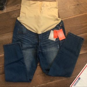 Bundle of A:glow maternity crop jeans size 6 NWT